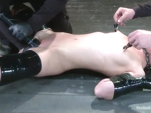Double Teamed-Extreme Bondage,Brutal Suffering, and Squirting Orgasms