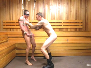 Brian Huggins & Christian Wilde in Straight Boy In The Locker Room Is Abducted And Fucked - BoundG.
