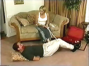 Timmy and Lukas hogtied and cleave gagged and Vince tied up and tape gagged
