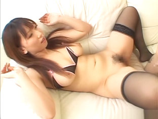 Ai Sayama JP milf with big tits gives talented blowjob to nerdy guy