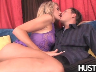 Blonde hottie Amanda Tate ass rammed and fed with cum