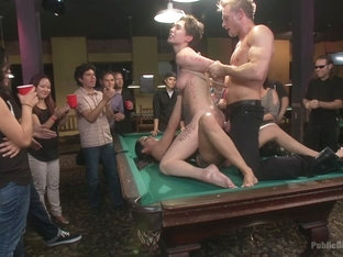 Lily Labeau Gets Played In Raunchy Pool Hall - PublicDisgrace
