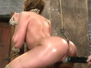Amy Brooke has her amazing gaping ass fucked & hooked. Made to cum & squirt so hard her ass rosebu.