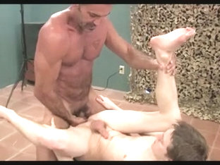 Twink is drilled rough in the arse by a hard member
