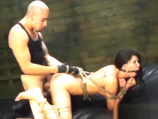Tied Esmi Lee Filled With Big Schlong In Doggy