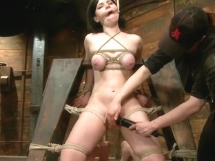 Pale Big Breasted Brunette Beauty Gets Anal Cherry Taken