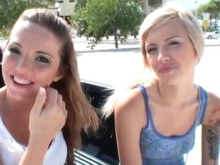 Hot babes Emma Mae and Nichole Taylor get seduces by Josh