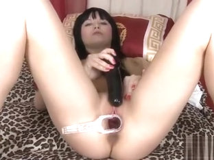 Sensual sweetie is gaping narrow pussy in close up and comin