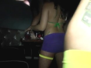 Slutty vixens getting dirty at the night-club party