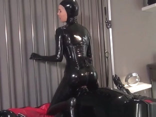 Black Catsuit Breathplay and Licking