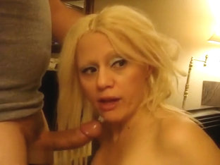 Sexy Blonde Barbie Hardcore Face Fuck