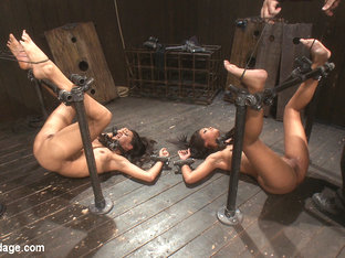 Skin Diamond  Lyla Storm in The cries of the cumming whores - DeviceBondage