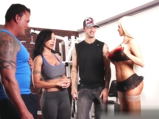 Nikita Von James Joins A Workout Orgy With Some Hard Bodies