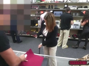 A foxy babe gets plowed in the office