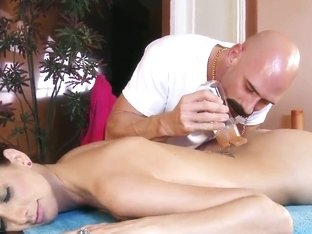 Katie steals her slutty mother's massage