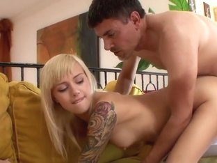 Emma Mae takes this hard dick deep in her moist slot