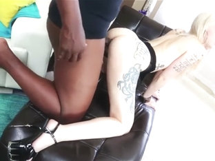 12 Inch Cock For Tattooed Blonde Indigo Augustine Pussy and Ass