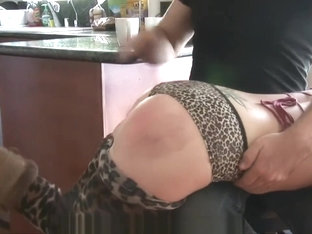 ALISON MILLER LEOPARED TIGHT-PANTY SPANKING (2017)