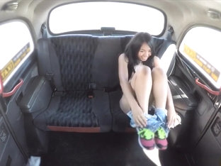 Sexy Thai With Pierced Pussy Lips Gets Fucked In A Cab