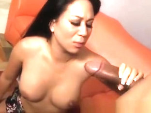 Asian Kayme Kai Sucking Big Black Dong And Fucking