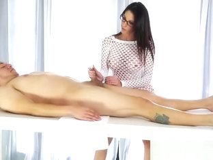 Sex therapist jerking rod