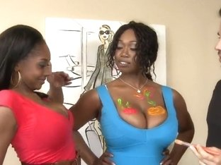 Black chick Baby Cakes is showing her awesome boobs