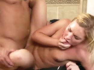 Petite Ally Kay gets nailed hard by Derrick Pierce