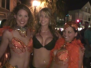 Following Super Hot Girl Around Fantasy Fest Key West - SpringbreakLife