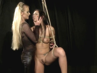 Restrained Sub Punished By Glam Mistresses