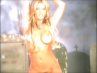 Jill Kelly Leather Pants And Jacket Striptease