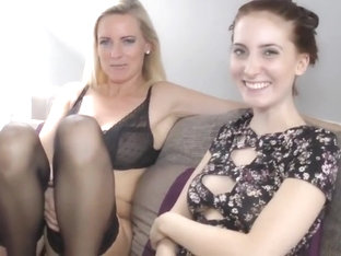 Milf and college girl - 4 feet footjob