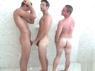 Hot gay threesome having fun under part6