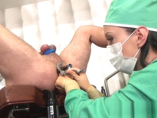 female surgeon ass fisting exam