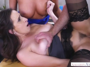 Ashley Adams & August Ames & Charles Dera in NaughtyOffice