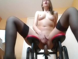 Sex machine is gonna make her cum