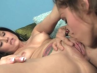 Lovely Lola Fox Seduced Into Tribbing Lesbian Sex
