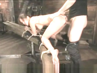 Beautiful girl tied up, spanked and fucked