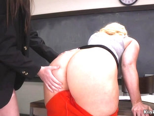 Busty professor anal fucks with students
