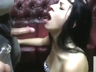 Hard BlowJob with Hard Drinking