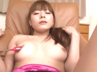 Anri Sonozaki Works Cock In Both Her Tight Holes