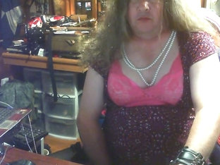 Cd crossdresser cock cum