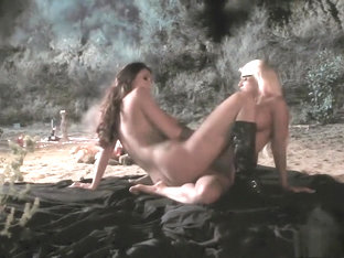 Alison Tyler and Jacky Joy getting drilled by two horny guys outside
