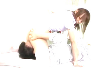 Hottest Japanese chick Eri Ouka in Crazy Stockings, Cunnilingus JAV movie