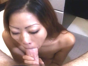 Taiwanese Cock Smoker On Her Knees For White Dick
