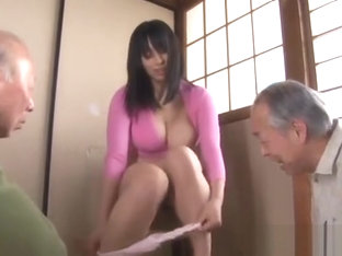 Japanese cutie materbates In front of old men