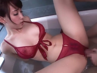 Incredible Japanese chick Kurea Hasumi in Fabulous JAV censored Bathroom, Handjobs movie