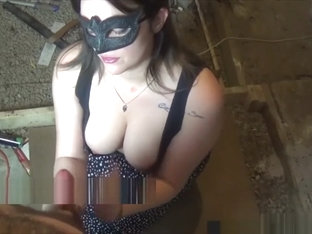Crazy Girlfriend Handjob in Basement
