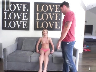 Tiny Babe Bella Rose Takes A Huge Cock