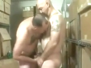 Two hot mature men fuck