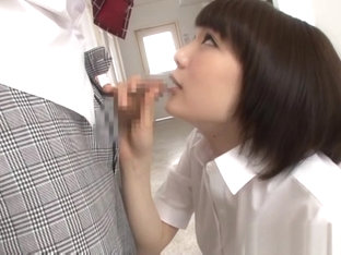 Airi Suzumura Japanese honey sucks cock like a star
